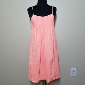 J. Crew Dress Neon Peachy Orange Pintuck Cotton 00